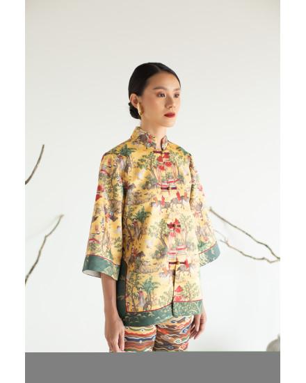 [PRE ORDER] NARIKO Jacket - Gold Chinoiserie