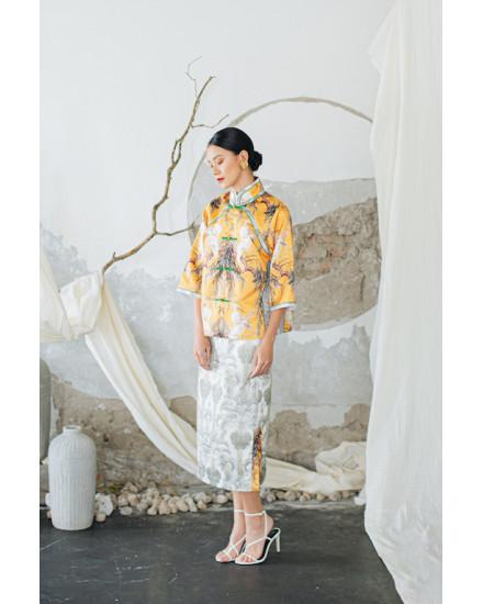 [PRE ORDER] DARU skirt - Light Palm