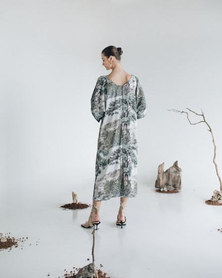 INAYA DRESS GREEN